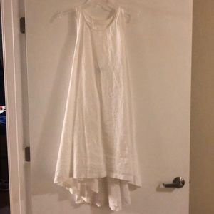 Banana Republic White High-Low Linen Dress